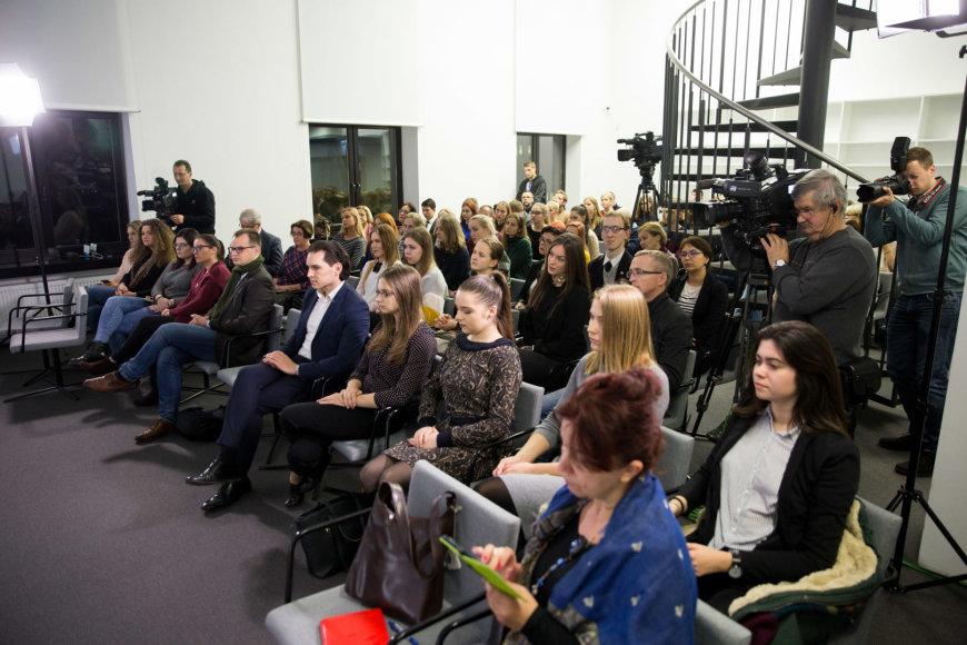 """Žygimanto Gedvilos / 15min nuotr./Diskusijos """"Nesižudanti Lietuva: kada?"""" akimirka"""