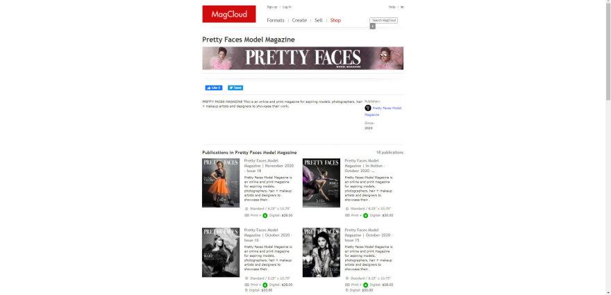 "Printscreen nuotr./""Pretty faces model magazine"" žurnalo internetinis puslapis"