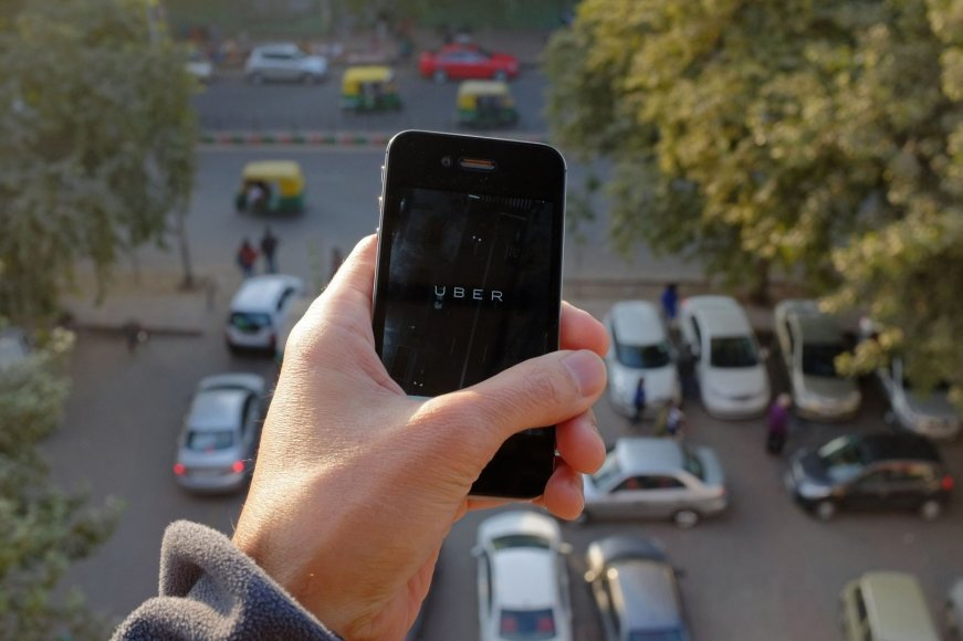 """Uber"" taksi Indijoje"