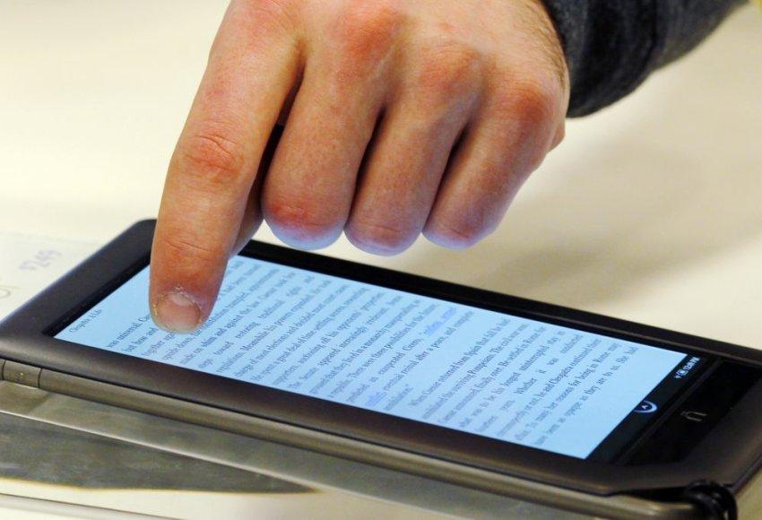 Elektroninė knygų skaityklė.