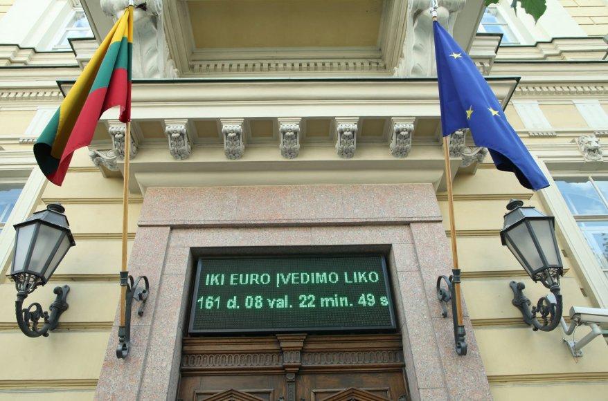 Laikrodis, skaičiuojantis laiką iki euro įvedimo