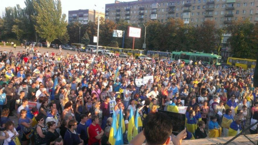 Mariupolio gyventojai nusiteikę ryžtingai kovoti su okupantais