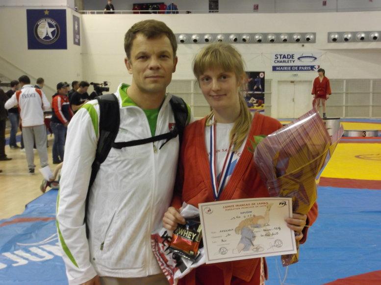 Rūta Aksionova su treneriu