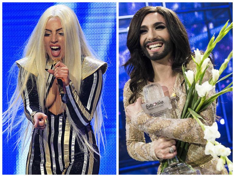 Lady Gaga ir Conchita Wurst