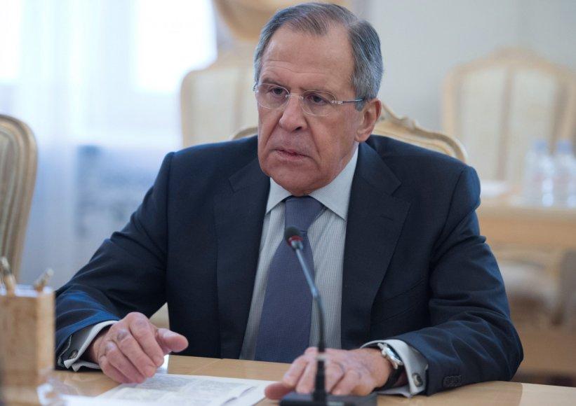 Rusijos užsienio reikalų ministras Sergejus Lavrovas