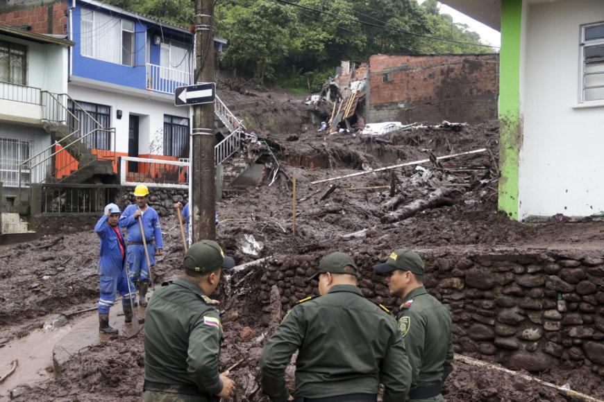 Kolumbijoje – potvyniai ir purvo nuošliaužos