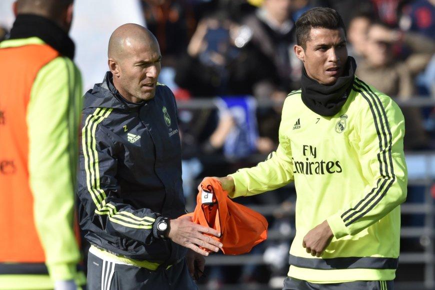 Zinedine'as Zidane'as ir Cristiano Ronaldo