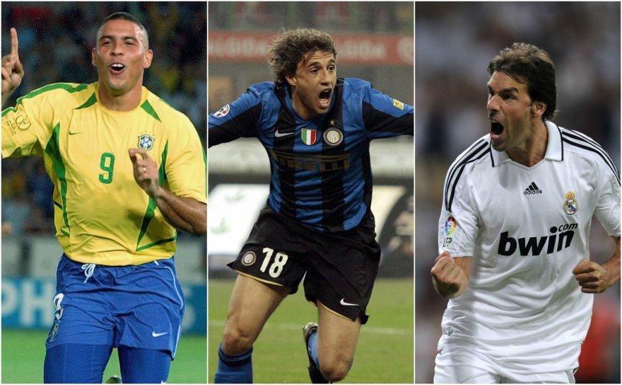 Ronaldo, Hernanas Crespo ir Ruudas van Nistelrooy'us