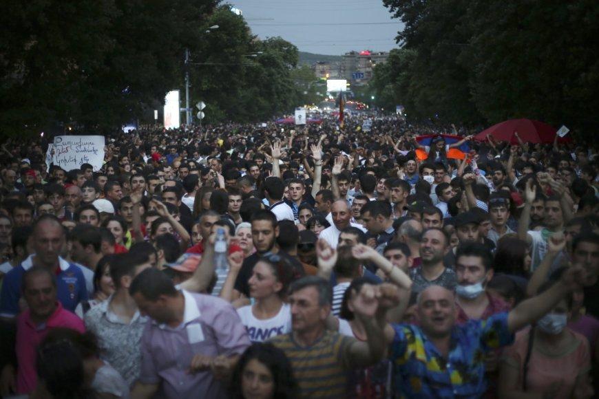 Protestuojantys Armėnai