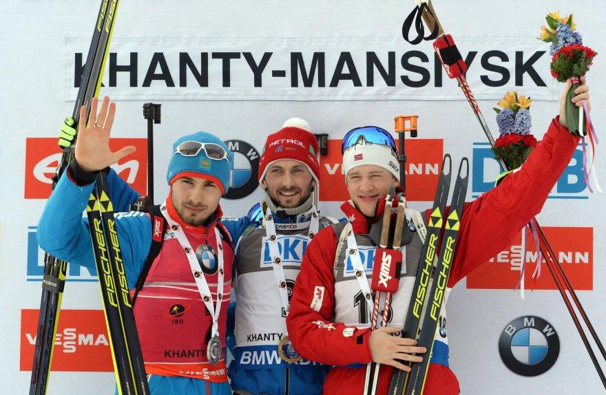 Iš kairės: Antonas Šipulinas, Jakovas Fakas ir Tarjei Boe