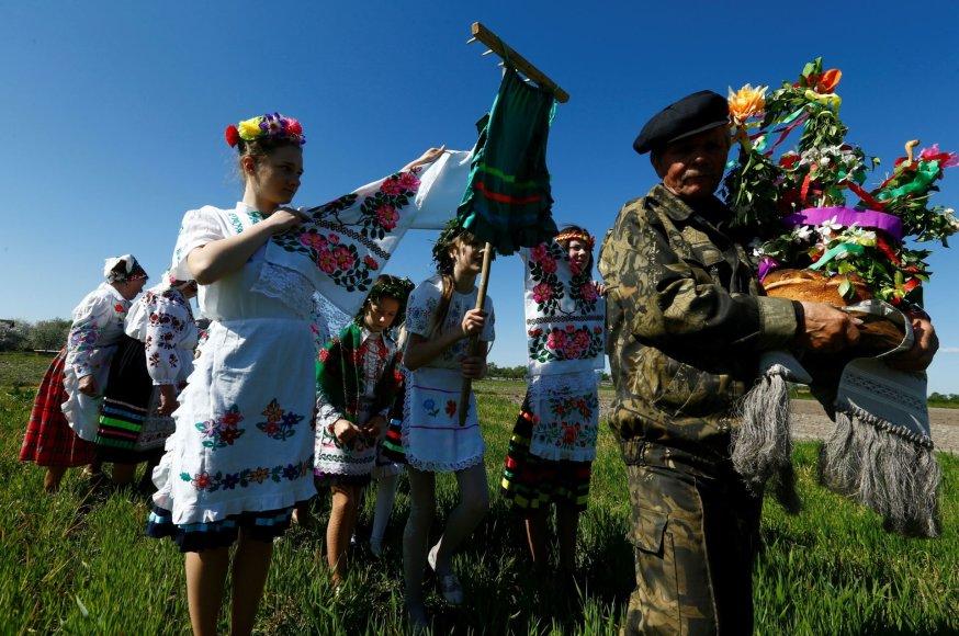 Baltarusiai šventė pagonybės laikus menančią šventę