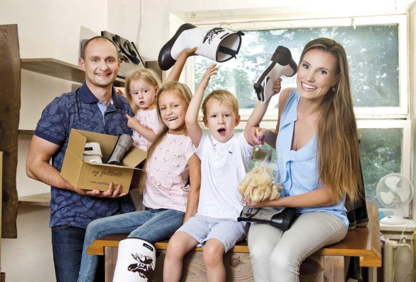 Daiva Zgrabskė su šeima