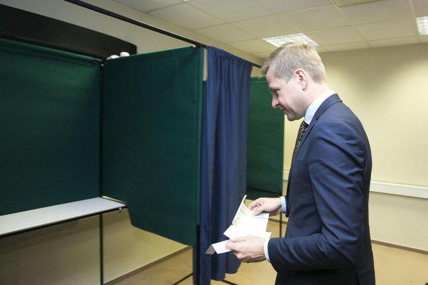 Remigijus Šimašius balsavo išankstiniame balsavime antrajame rinkimų į Seimą ture
