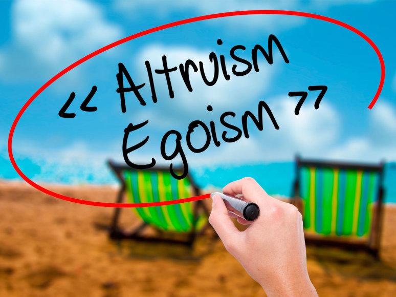 Kas nugali mumyse – agoizmas ar altruizmas?
