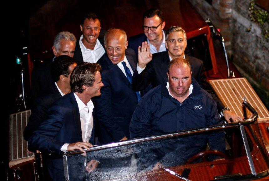 George'o Clooney bernvakaris Venecijoje