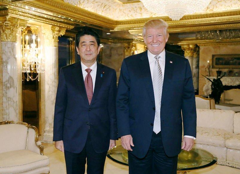 Shinzo Abe ir Donaldas Trumpas Niujorke
