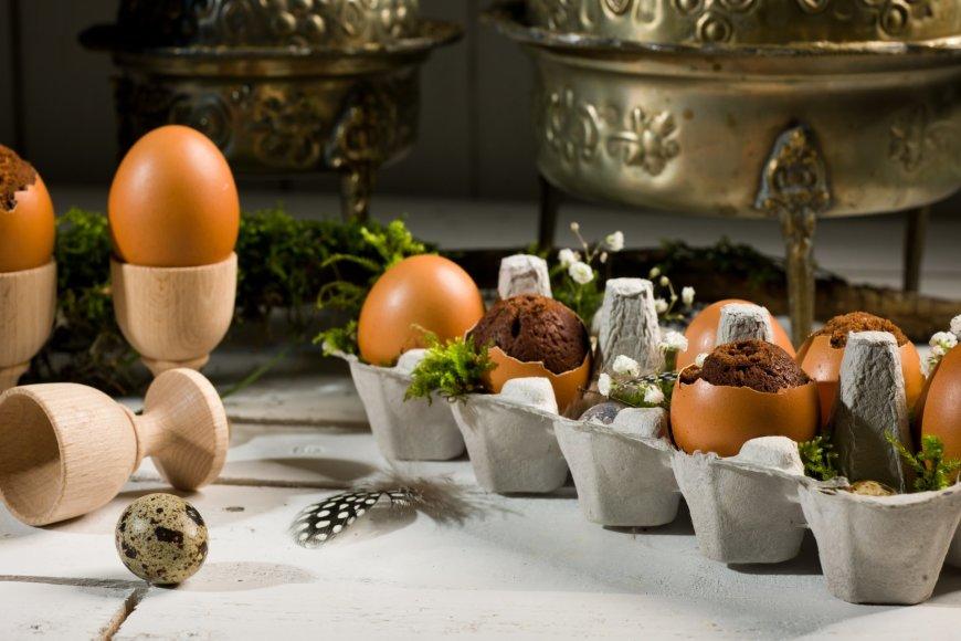 Brownie kiaušinių lukštuose