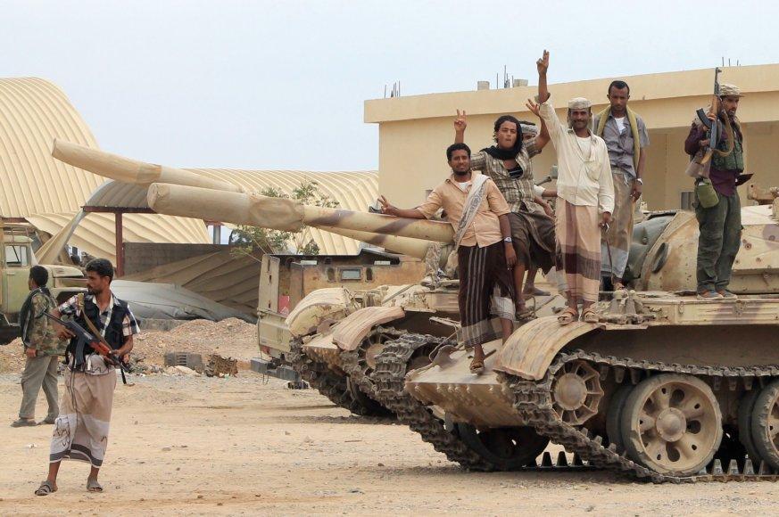 Husių pajėgos Anado oro pajėgų bazėje
