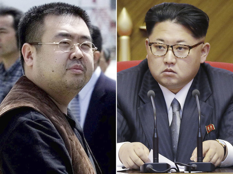 """Scanpix""/AP nuotr./Kim Jong Namas ir Kim Jong Unas"
