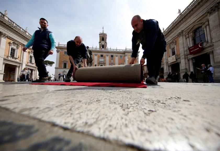 Roma ruošiasi priimti jubiliejinį ES viršūnių susitikimą