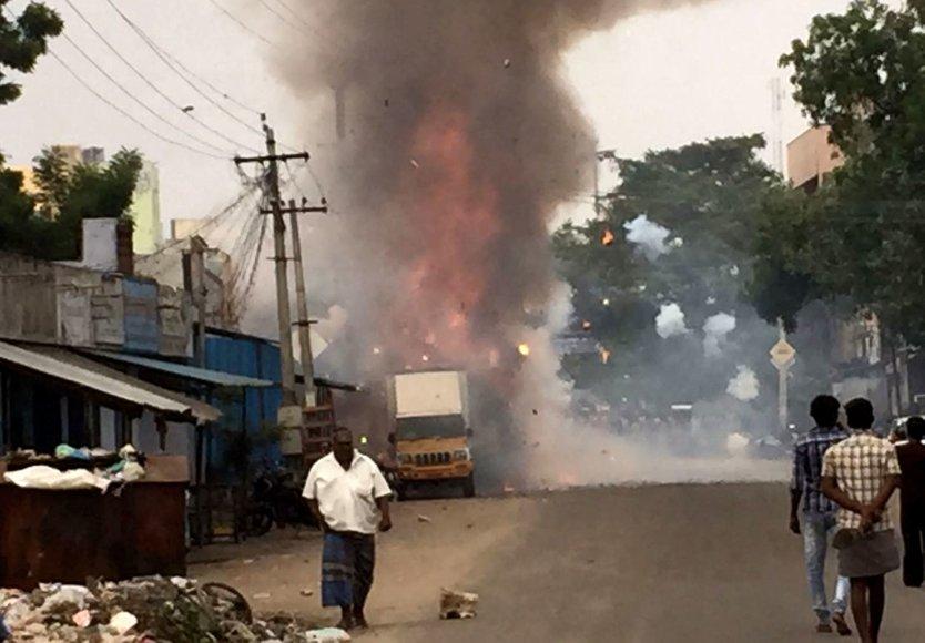 Indijoje sprogo fejerverkų fabrikas