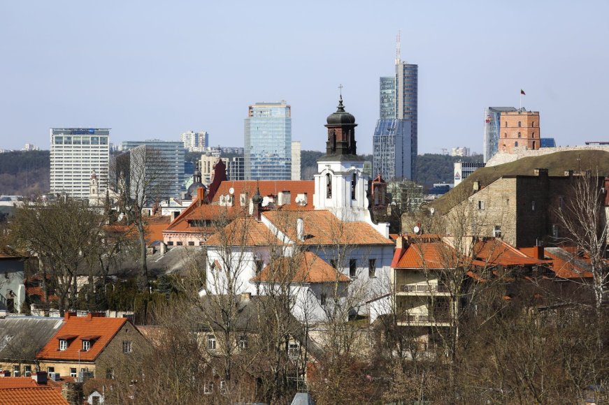 Saulėtas penktadienis Vilniuje