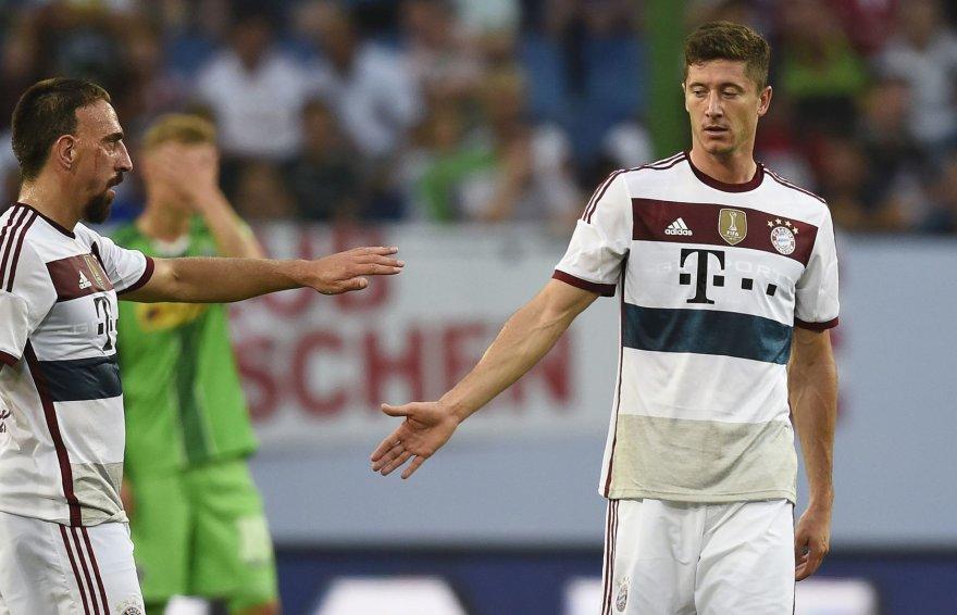 Franckas Ribery ir Robertas Lewandowskis