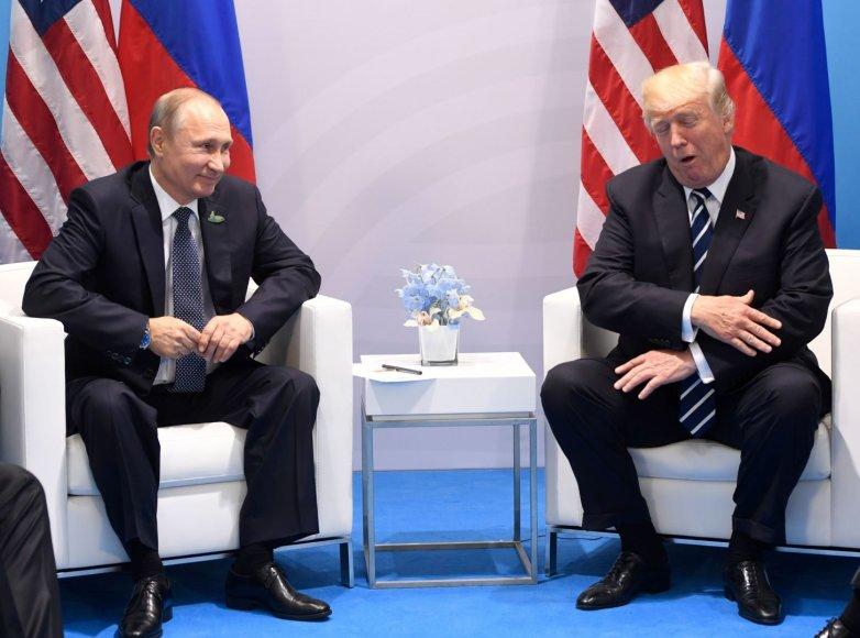 Vladimiro Putino ir Donaldo Trumpo susitikimas