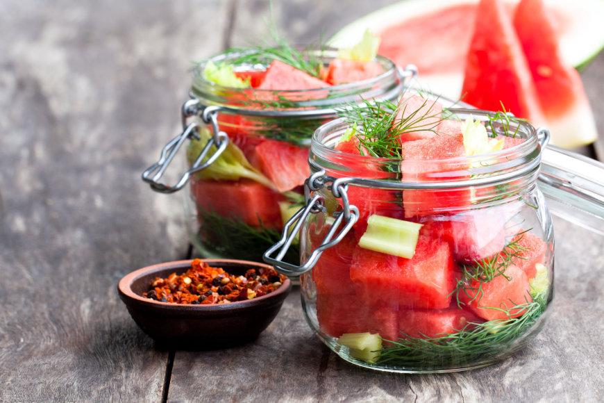 Marinavimui paruošti arbūzai