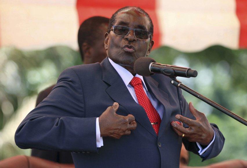 Zimbabvės diktatorius Robertas Mugabe