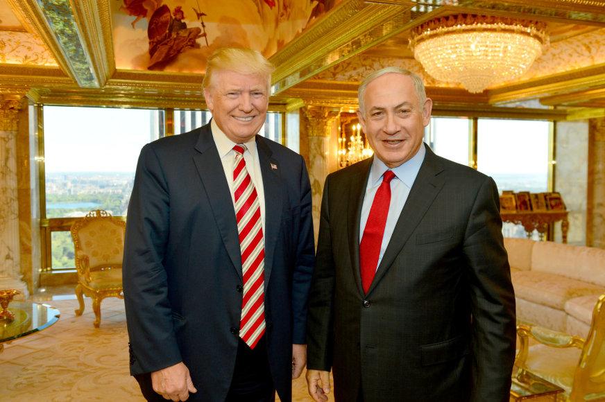B.Netanyahu ir D.Trumpas Niujorke