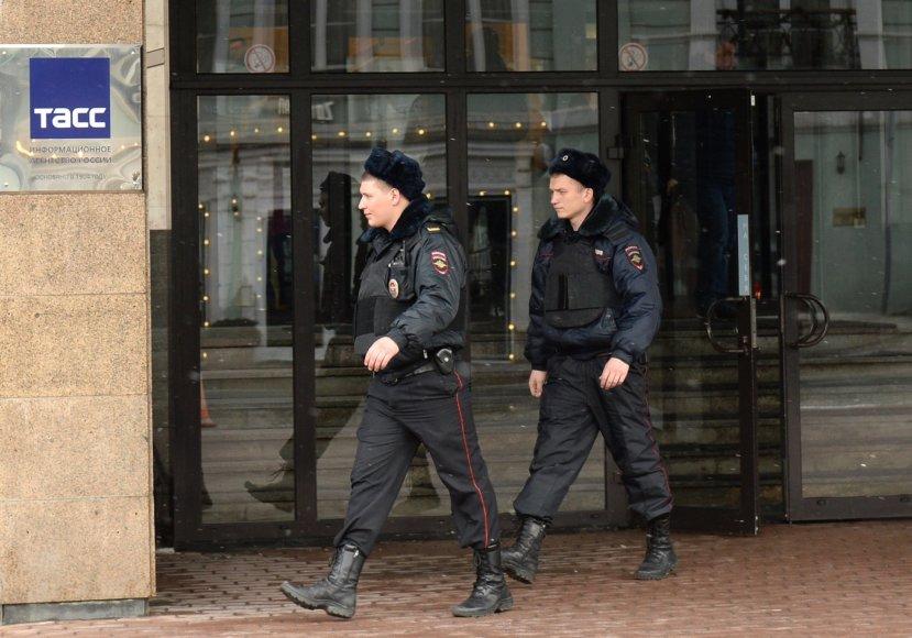 Policininkai Maskvoje