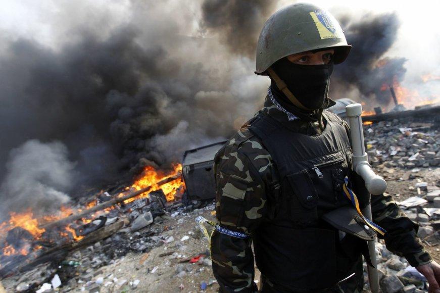 Protestuotojas Kijeve