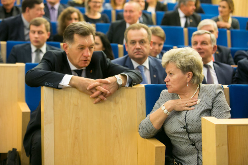 Algirdas Butkevičius ir Irena Šiaulienė