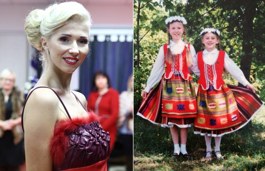Inga Stumbrienė dabar ir paauglystėje (kairėje)