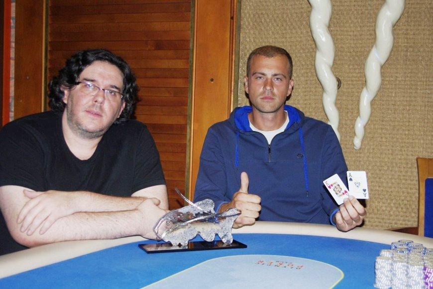 Andrius Žilaitis (dešinėje) ir Borisas Smuškevičius / pokernews.lt nuotr.