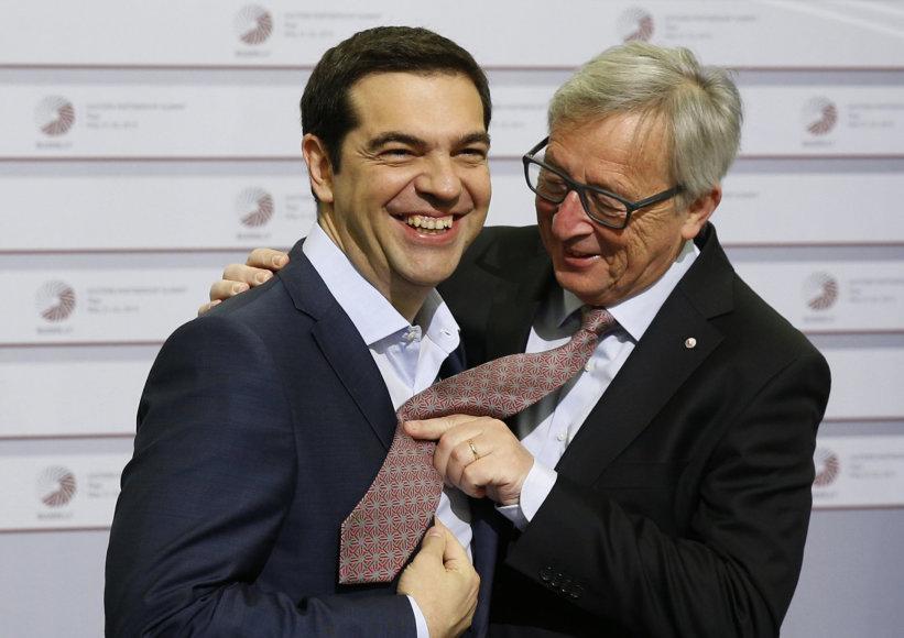 Aleksis Cipras ir Jeanas-Claude'as Junckeris