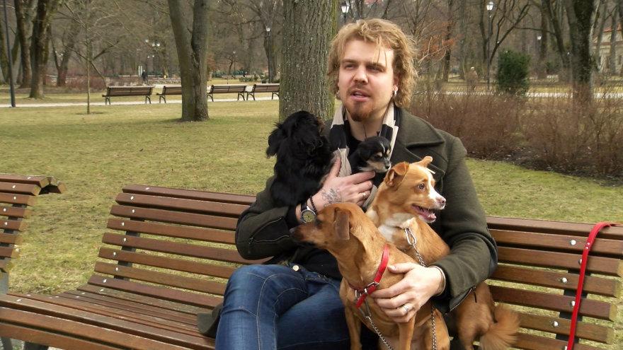 Robertas Kalinkinas su savo šunimis