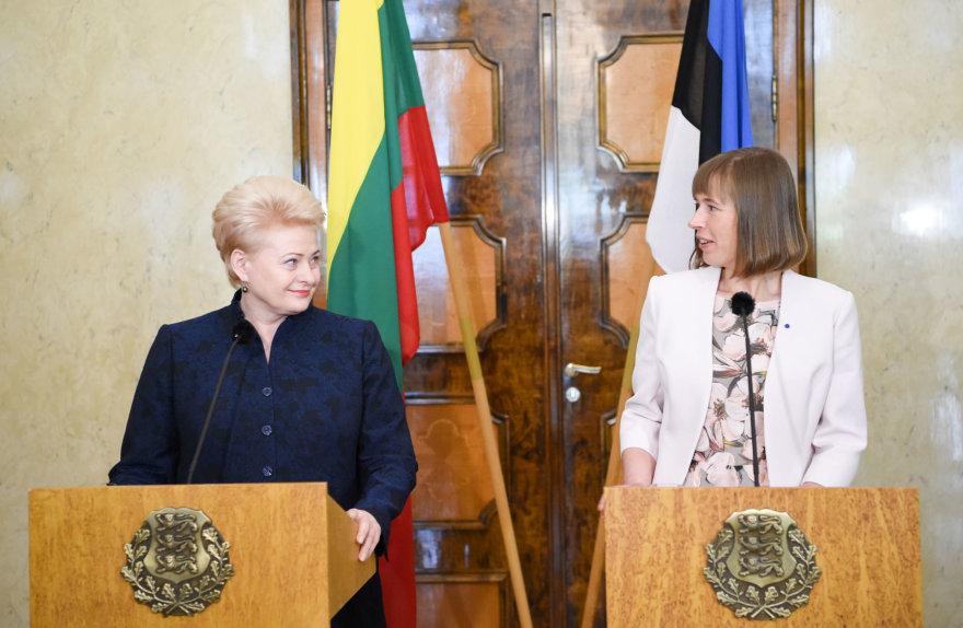 Dalia Grybauskaitė susitiko su Estijos prezidente Kersti Kaljulaid