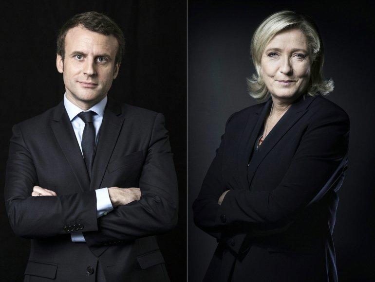 E.Macronas ir M.Le Pen susigrums debatuose