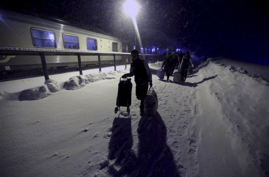 Pabėgėliai atvyksta į Švediją
