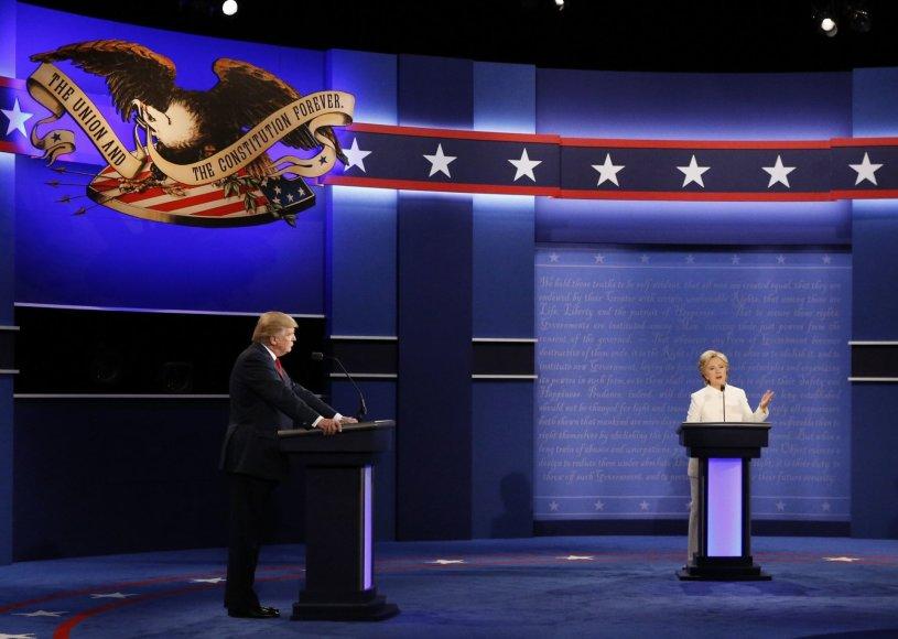 Donaldas Trumpas ir Hillary Clinton