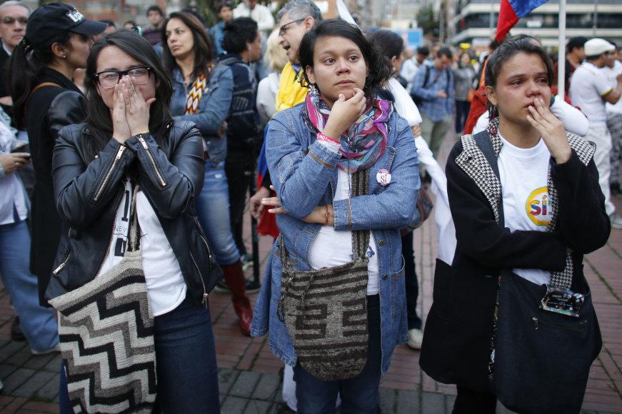 Dalį kolumbiečių ištiko šokas, sužinojus referendumo rezultatus