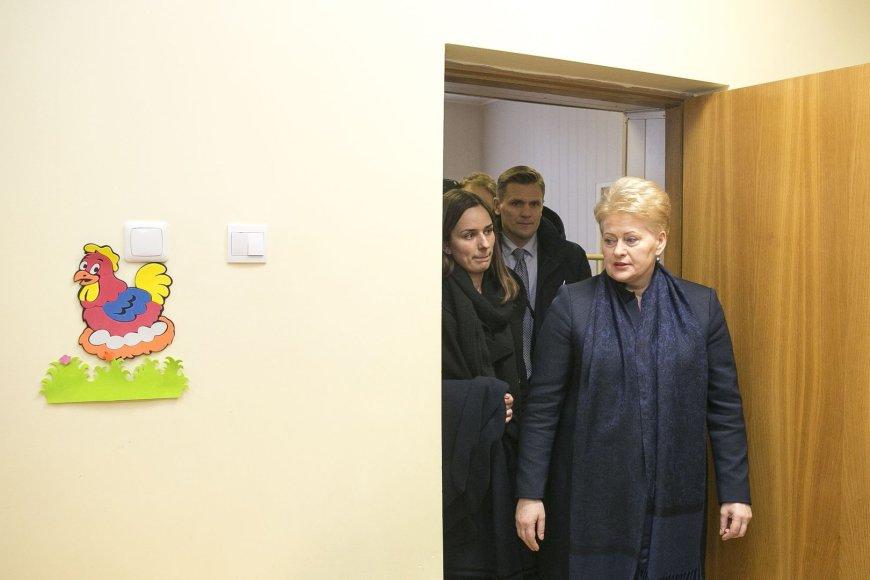 Prezidentė Dalia Grybauskaitė lankosi Vaiko raidos centre