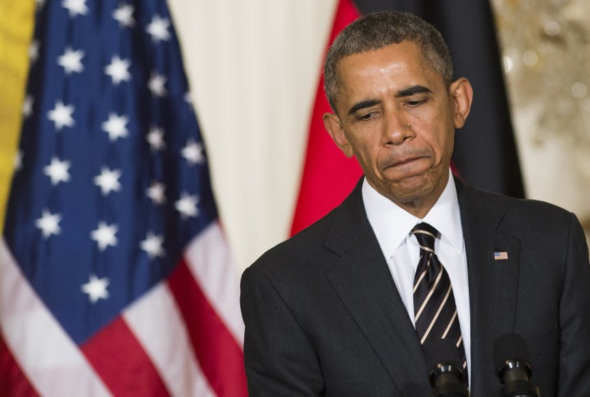 Barackas Obama spaudos konferencijoje