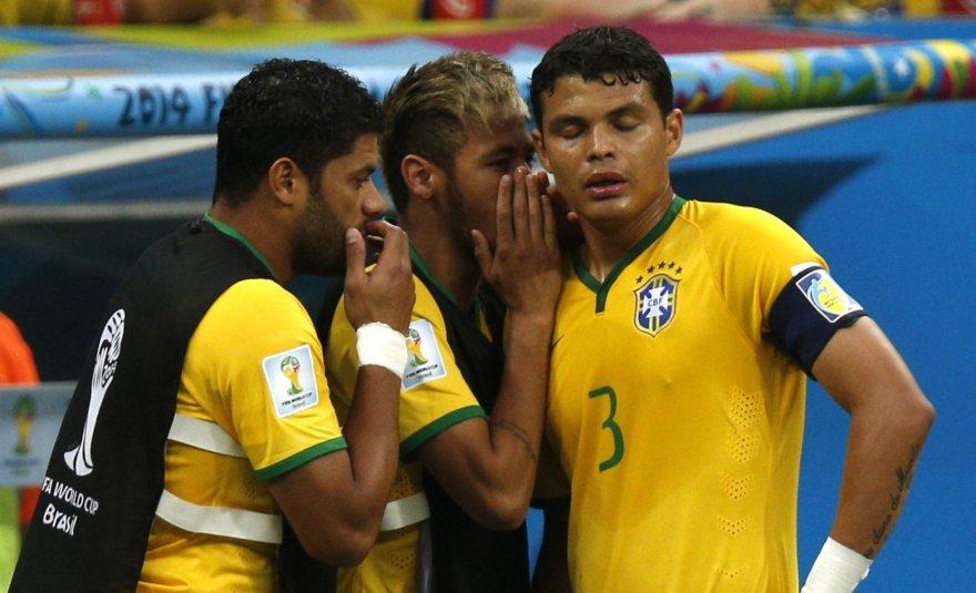 Fredas, Neymaras ir Thiago Silva