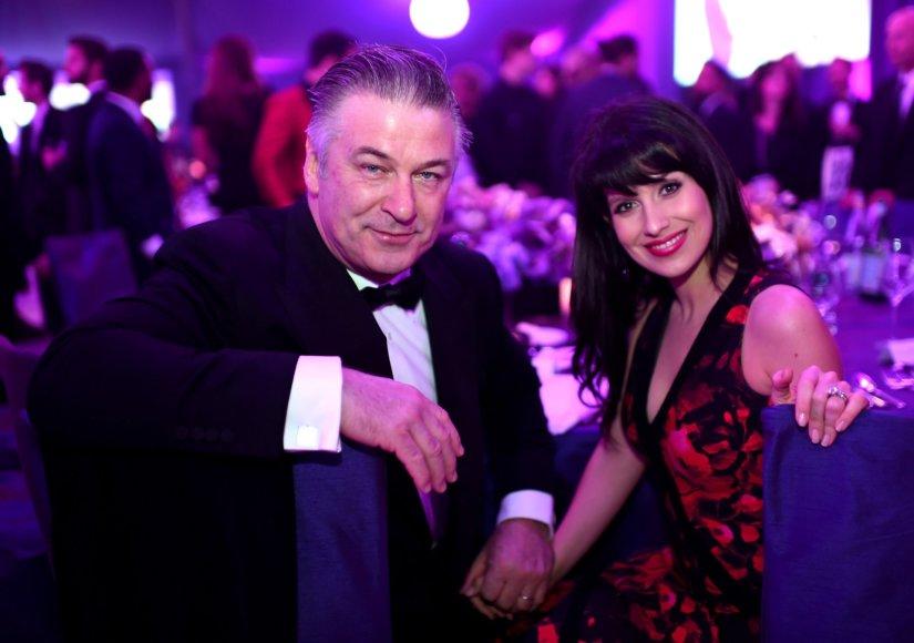 Alecas Baldwinas su žmona Hilaria