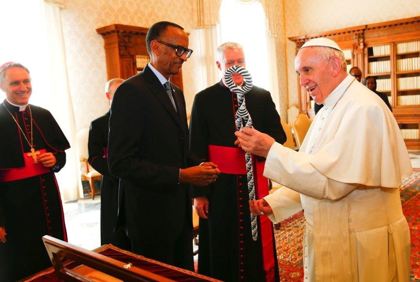 Popiežius Pranciškus susitiko su Ruandos prezidentu Paulu Kagame