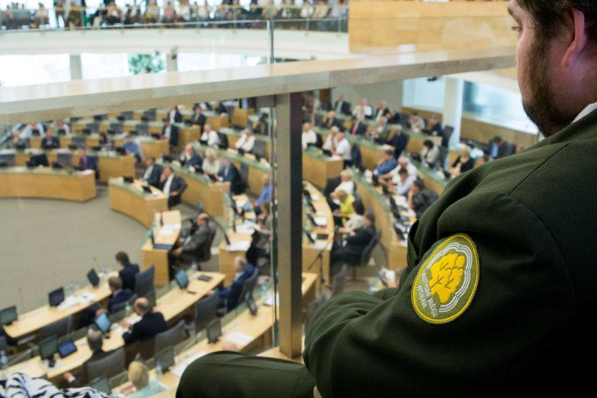 Seime balsavimas dėl urėdijų įstatymo