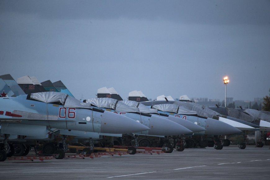 Rusijos naikintuvai Sirijoje